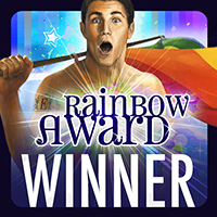 Rainbow Book Award Winner -- Man with Rainbow Flag
